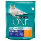 PURINA ONE Senior 7+ Karma dla kotów bogata w kurczaka i pełne ziarna 800 g