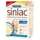 Nestlé Sinlac Bezglutenowy produkt zbożowy bez dodatku cukru po 4. miesiącu 300 g