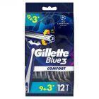 Gillette Blue3 Comfort Jednorazowa maszynka do golenia dla mężczyzn, 12 sztuk