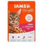 IAMS Delights Karma dla dorosłych i starzejących się kotów z kurczakiem 85 g