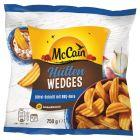 McCain Hütten Wedges Cząstki ziemniaczane ze skórką o smaku barbecue 750 g