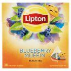 Lipton Herbata czarna aromatyzowana o smaku jagodowej Muffinki 32 g (20 torebek)