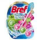 Bref WC Perfume Switch Zawieszka myjąco-zapachowa do muszli WC zielone jabłko-lilia wodna 50 g