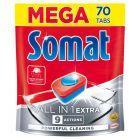 Somat All in 1 Extra Tabletki do mycia naczyń w zmywarkach 1274 g (70 x 18,2 g)