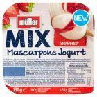 Müller Mix Jogurt z serkiem mascarpone i wsadem truskawkowym 130 g