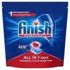 Finish All in 1 Max Tabletki do mycia naczyń w zmywarce 672 g (42 sztuki)