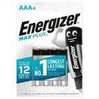 Energizer Max Plus AAA-LR03 1,5 V Baterie alkaliczne 4 sztuki
