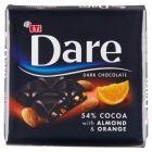 Eti Dare Czekolada gorzka 54% kakao z dodatkiem migdałów i pomarańczy 70 g