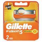 Gillette Fusion Power Ostrza wymienne do maszynki do golenia, 2 sztuki