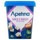 Arla Apetina Ser biały sałatkowy w kostkach z czosnkiem i pietruszką 430 g