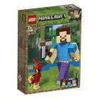21148 Minecfraft BigFig - Steve z papugą