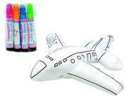 Samolot do malowania z zestawem flamastrów