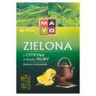 Mayo Zielona z cytryną o smaku pigwy Herbata ekspresowa 120 g (80 torebek)