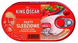 Filety śledz. w ostrym s. z pieprzem cayenne 170g / K16